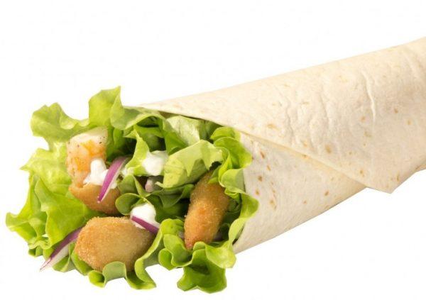 Шримп ролл – жиросодержащее блюдо из категории фастфуда