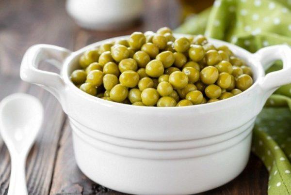 Зеленый горошек содержит много белка