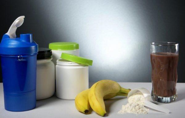Банановый протеиновый коктейль