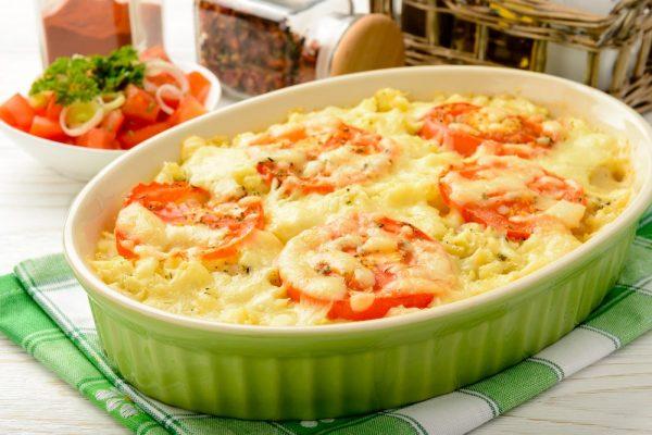 Картофельно-томатная запеканка