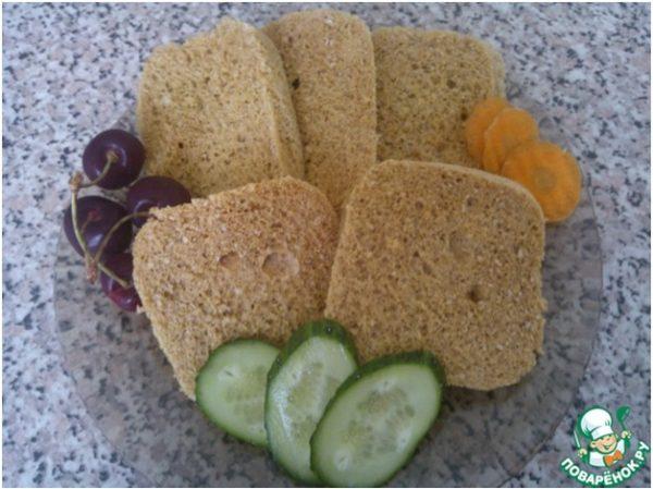 Хлеб из отрубей в микроволновке