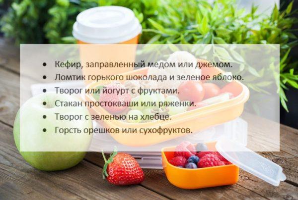 Перекусы на каждый день