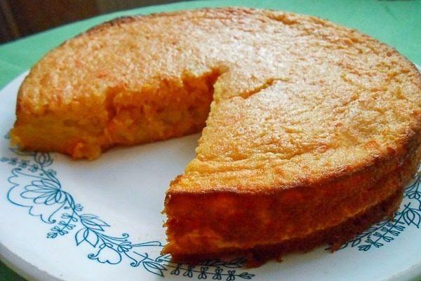 Запеканка из хлеба с творогом и морковью