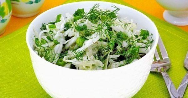 Салат из белокочанной капусты