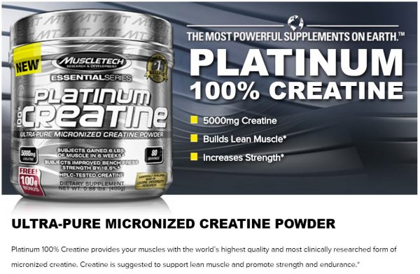 100% Platinum Creatine