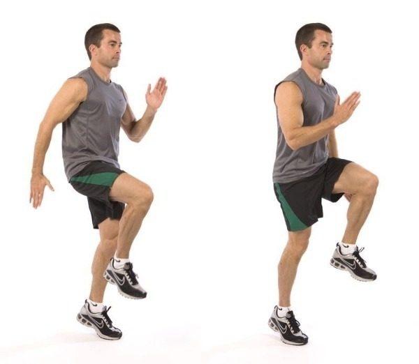 Бег с высоко поднятыми коленями