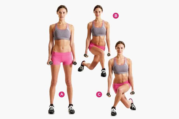 Упражнение со скрещенными ступнями.