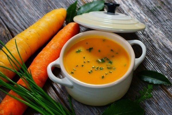 Суп-пюре из тыквы и морковки