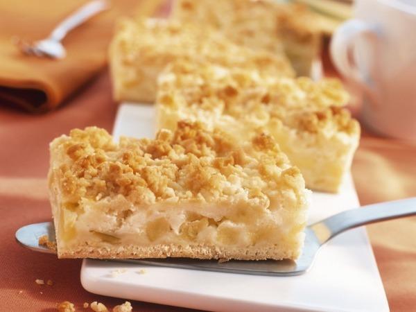 Песочный диетический яблочный пирог