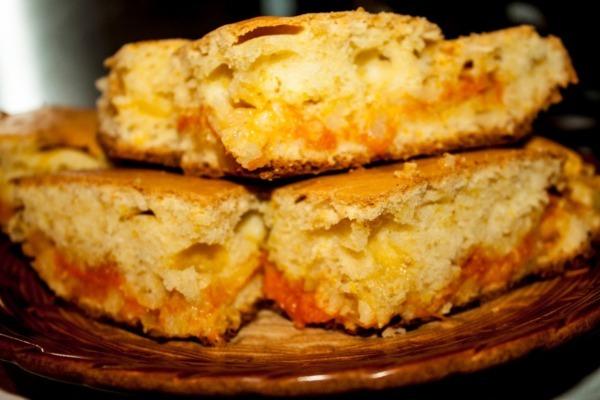 Пирог с яблочно-тыквенной начинкой