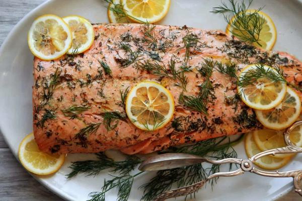 Красная рыба, запеченная в духовке
