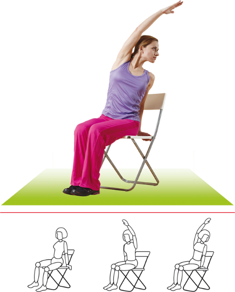 Скручивание корпуса с отведением руки